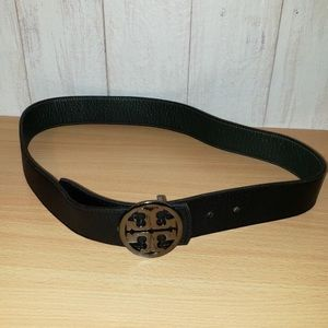 Tory Burch Leather Reversible Logo Belt